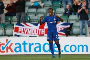 the night england star callum hudson-odoi lit up plymouth argyle's home park