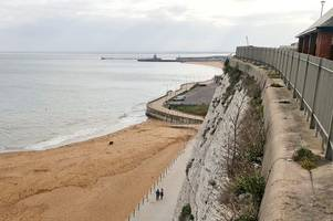 police confirm a man has died after he plunged from cliffs near victoria parade in ramsgate