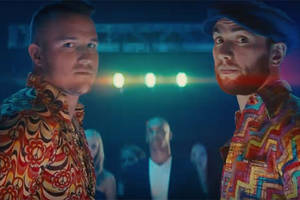 pro bowl qb andrew luck and mlb all-star mike trout bust a move in '70s disco dance-off (video)