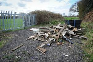 fly tippers dump rubbish near tamworth's anker valley sports complex