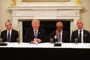 sundar's silence: the thorny factors behind the google ceo's trump meeting and his deafening quiet about it (goog, googl)