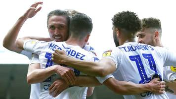 leeds united 3-2 millwall: pablo hernandez double sends whites second