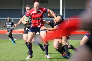 Former Gloucester Rugby captain Mike Tindall rolls back years at Kingsholm as TV host Nick Knowles celebrates win as coach