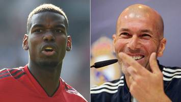'when his experience at manchester ends, why not come here to madrid?' - zidane likes pogba 'a lot'