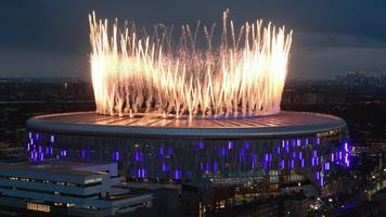 tottenham hotspur stadium: fireworks and tears as spurs return home