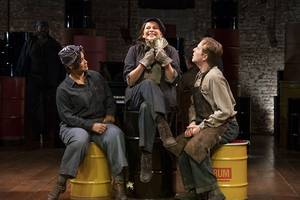 'the cradle will rock' theater review: the union organizer fumbles it again