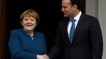 brexit: angela merkel says germany 'will stand' with ireland