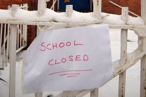 the rhondda schools closed because of snow on thursday, april 4