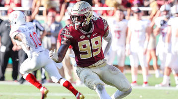 fsu's brian burns has studied up and bulked up in preparation for the nfl draft