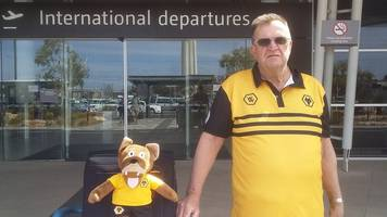 man flies from australia to watch wolves in fa cup