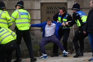 'you are a thoroughly unpleasant, unsociable racist...' - judge slams this protester, 22, who hurled 'vile' religious abuse during stoke-on-trent infidels demo