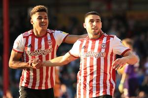 brentford player ratings: benrahma and maupay star again as the bees share the spoils with derby