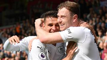 bournemouth 1-3 burnley: clarets come from behind to boost survival hopes