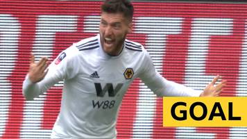 fa cup: matt doherty scores opening goal for wolves against watford