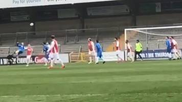 wycombe wanderers: manager gareth ainsworth's scores stunning overhead volley in charity match