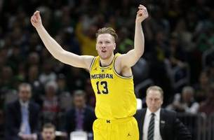 michigan's matthews, brazdeikis and poole declare for nba draft