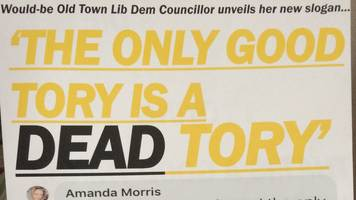 'dead tory' insult used in eastbourne election leaflet