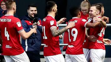 bristol city 3-2 west bromwich albion: robins hang on to beat baggies