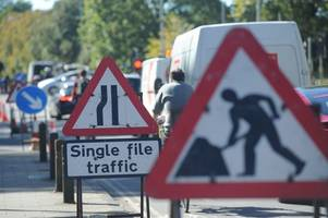 live updates: roadworks causing heavy traffic at parker's piece junction