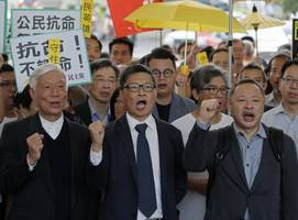 leaders of hong kong's umbrella movement found guilty for role in protests
