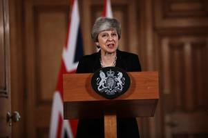 theresa may pleads with angela merkel and emmanuel macron over brexit delay
