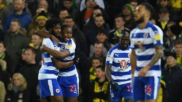 norwich city 2-2 reading: royals strike late to seal draw at carrow road