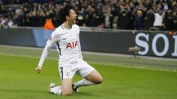 Champions League: Son Gives Tottenham Lead Over Manchester City