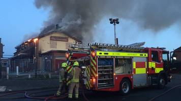 'serious' fire at disused newport pub the centurion