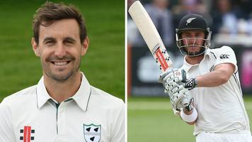 county championship: mitchell & rutherford hit tons for pears at leicester