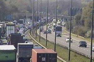 live updates as m4 lorry crash causes heavy traffic between newport and magor
