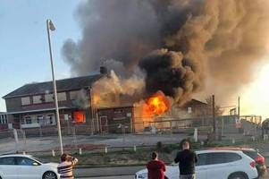 live updates as huge fire starts at former pub on heather road in newport