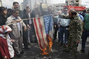 iranians rally against us move against paramilitary force