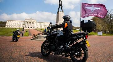 bikers roll into stormont and london against bloody sunday prosecution