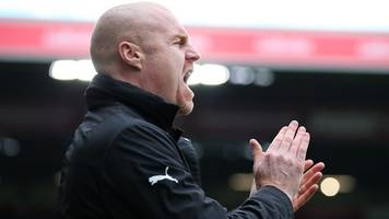 burnley 2-0 cardiff city: sean dyche pleased with clarets' premier league position
