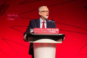 jeremy corbyn is at the welsh labour conference and has insisted: 'welsh government is doing its best'