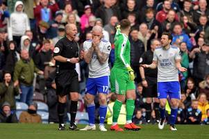 burnley v cardiff city overturned penalty decision sparks furious scenes