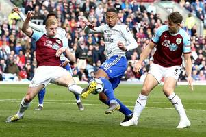 the cardiff city player ratings as kenneth zohore fails burnley audition but plenty impress in controversial defeat