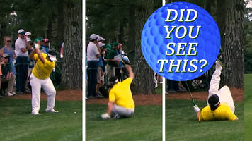 masters 2019: tiger woods tackled, rory mcilroy's buggy ball & more weird moments