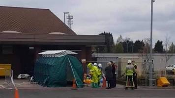 man decontaminated in walsall hospital after attack