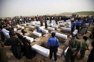 mass grave with kurdish anfal victims found in southern iraq
