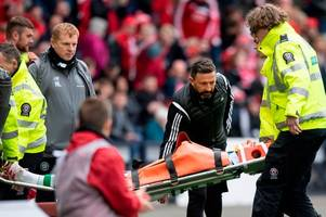 ryan christie celtic injury update as neil lennon fears fracture after brutal collision