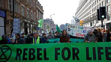 extinction rebellion protesters block london roads