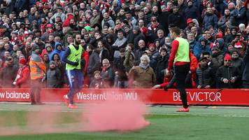 Liverpool 2-0 Chelsea: Police look at Anfield flare incident