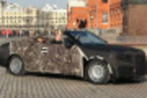 Russian Aurus convertible spotted based on Vladimir Putin's limousine