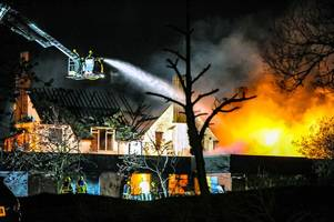 watch as 40 firefighters tackle huge fire at former golf clubhouse in northfield