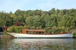victorian motorboat will be brought back to life as floating restaurant on the helford