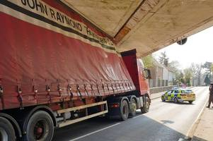 newport london road to stay closed for 'next few hours' after lorry crashes into bridge