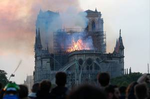 Photos show devastating fire at Notre Dame in Paris
