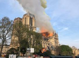 breaking: terrible fire breaks out at historic notre-dame cathedral in paris