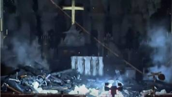 Notre-Dame cathedral: First look inside fire-damaged building